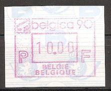Belgien Belgique Belgie 1990 ATM Belgica 90 Michel No. 21 MNH Postfrisch Belgie - Belgique 10 Fr. - Postage Labels