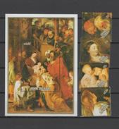 Cook Islands 1989 Paintings Rubens, Christmas Set Of 4 + S/s MNH