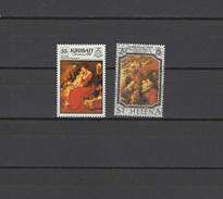 Kiribati / St. Helena 1989 Paintings Rubens 2 Stamps MNH