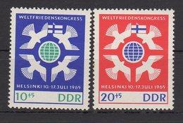 DDR / Weltfriedenskongress, Helsinki / MiNr. 1122, 1123