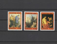Ghana 1992 Paintings Rubens 3 Stamps MNH