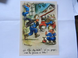 GERMAINE BOURET REPRO POMPIERS - Bouret, Germaine