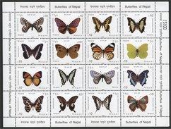 NEPAL, SUPERB MINISHEET BUTTERFLIES FROM 2009 MNH - Nepal
