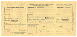 FRATELLI CARLI-ONEGLIA-IMPERIA, BOLLETTINO C/C/P  CON LOGO - NUOVO, TIMBRO 5/12/1939 - - Vecchi Documenti