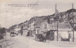 CARTE POSTALE   ROCHECORBON 37  La Route De Tours Et La Lanterne - Rochecorbon