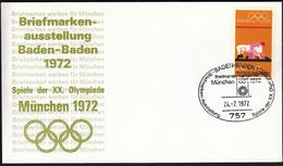 Germany Baden - Baden 1972 / Olympic Games Munich 1972 / Philatelic Exhibition / Wrestling - Sommer 1972: München