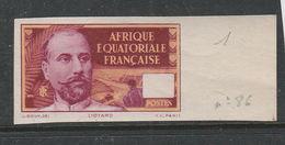 AFRIQUE EQUATORIALE FRANÇAISE ESSAI DE COULEUR SANS LA VALEUR FACIALE NEUF SANS CHARNIÈRE BDF - A.E.F. (1936-1958)