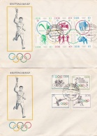 DDR FDC 1964 Tokyo Summer Olympics - 2 Covers  (G45-1AJ)