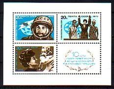 RUSSIA \ RUSSIE - 1973 - 10 Ans Du Vol Cosmique De La Premiere Femme Cosmonaute V.Terechkova - Bl **