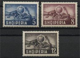 ALBANIA, 75th ANNIVERSARY OF UPU  1949 NH - Albanie