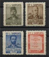 ALBANIA, 90TH ANNIVERSARA OF THE SOCIETY'S LANGUAGE EXPLORATION 1960, NH SET - Albania