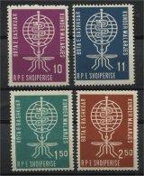 ALBANIA, BATTLE AGAINST MALARIA 1962, NH SET - Albanien