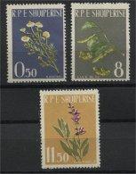 ALBANIA, MEDICINAL PLANTS 1962, NH SET A - Albanien