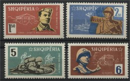ALBANIA, 20 YEARS ANNIVERSARY OF THE PEOPLE'S ARMY 1963, NH SET - Albania