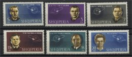 ALBANIA, SOVIET COSMONAUTS 1963, NH SET - Albanien