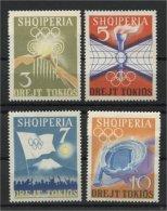 ALBANIA, TOKYO SUMMER OLYMPIC GAMES 1964, NH SET - Albanien