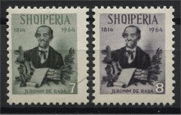 ALBANIA, 150TH BIRTHDAY OF JERONIM DE RADA 1964, NH SET - Albanien