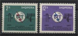 ALBANIA, 100TH YEARS ANNIVERSARY OF TELECOMMUNICATION UNION 1965, NH SET - Albanie