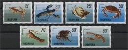 ALBANIA, SEA LIFE, SEA ANIMALS, HUMMER, CRABS, LOBSTER, 1968 NH SET - Albanie