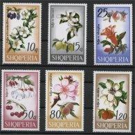ALBANIA, TREE BLOSSOM, FLOWERS 1969, NH SET - Albania