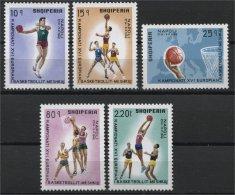 ALBANIA, EUROPEAN BASKETBALL CHAMPIONCHIPS 1969, NH SET - Albania