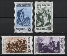 ALBANIA, 100th YEARS ANNIVERSARY OF THE PARISIAN COMMUNE 1971, NH SET - Albanien