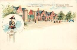 Bruxelles -  Expo. 1897 - Bruxelles Kermesse - Quartier Du Vieux Bruxelles - Manneken-Pis - Expositions Universelles