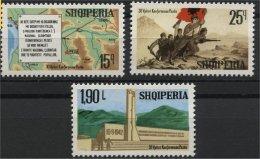 ALBANIA, 30th  YEARS ANNIVERSARY OF THE PEZA CONGRESS 1972, NH SET - Albanie