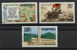 ALBANIA, 30th  YEARS ANNIVERSARY OF THE PEZA CONGRESS 1972, NH SET - Albania