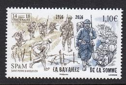 SAINT PIERRE ET MIQUELON 2016 Bataille De La Somme