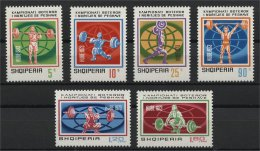 ALBANIA, WORLD CHAMPIONSHIP IN WEIGHTS 1973, NH SET - Albanie