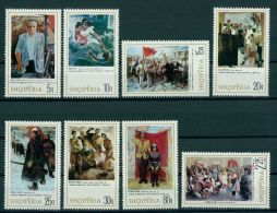 ALBANIA, NATIONAL PAINTINGS 1975, NH SET - Albanie