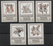 ALBANIA, NATIONAL ENDEAVOR AND DANCE III 1979, NH SET - Albania