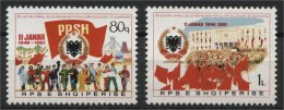 ALBANIA, 35TH YEAR ANNIVERSARY OF THE ALBANIAN FOLK'SREPUBLIC 1981, NH SET - Albania