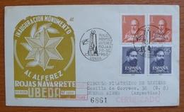Cover  - Envelope - Sobre Conmemorativo Inaguracion Monumento Alferes Rojas - 1960 UBEDA - FDC