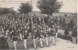 57 - METZ - LA COMPAGNIE DES DRAPEAUX AU RETOUR DE LA REVUE DU 27.08.1908 - Metz