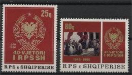 ALBANIA, 40th YEAR ANNIVERSARY OF THE ALBANIAN SOCIAL FOLK'S REPUBLIC 1986, NH SET - Albania