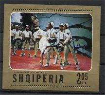 ALBANIA, BALLET 1976, NH SOUVENIR SHEET ** - Albanie