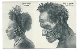 CPA - TYPE CANAQUE, TYPE DE VIEILLARD - Papouasie, Nouvelle Guinée - Edit. Missionnaires Du Sacré Coeur..... - Océanie