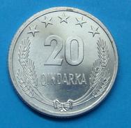ALBANIA 20 QINDARKA 1964, UNC - Albania