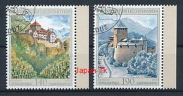 LIECHTENSTEIN Mi.Nr. 1569-1570 Das Schloss Vaduz In Den Vier Jahreszeiten  -used
