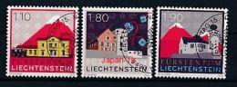 LIECHTENSTEIN Mi.Nr. 1571-1573 Freimarken: Die Marke Liechtenstein  -used