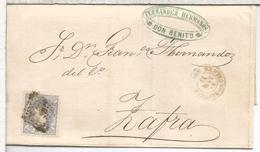 ESPAÑA ENVUELTA DE 1871 DE DON BENITO BADAJOZ A ZAFRA - Cartas