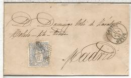ESPAÑA ENVUELTA DE 1871 DE LILLO TOLEDO A MADRID - Cartas