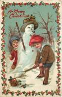 Fantaisie - La Confection D ' Un Bonhomme De Neige - Carte Gaufrée - Embossed Card - EdiT R. Tuck Christmas N° C. 522 - Fantaisies