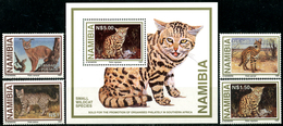 NAMIBIA 1997 Wildcats, Small Predators, Cats, Fauna MNH