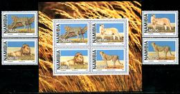 NAMIBIA 1998 Wild Cats Of Prey, Cheetahs, Lions, Fauna MNH