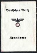 KENNKARTE AUSWEISS Carte D´identité Allemande 1940 - 1939-45