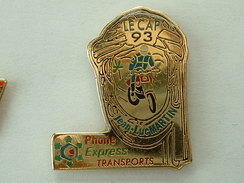 PIN'S MOTO - LE CAP 93 - JEAN LUC MARTIN - PHONE EXPRESS TRANSPORTS - Motorbikes