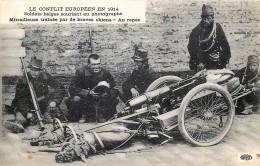Guerre 14/18 - Mitrailleuse Trainée Par De Braves Chiens - Au Repos - Oorlog 1914-18